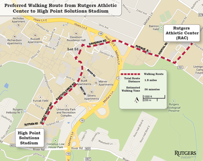 Rutgers Douglass Campus Map.Football Parking And Traffic Patterns Rutgers University Athletics