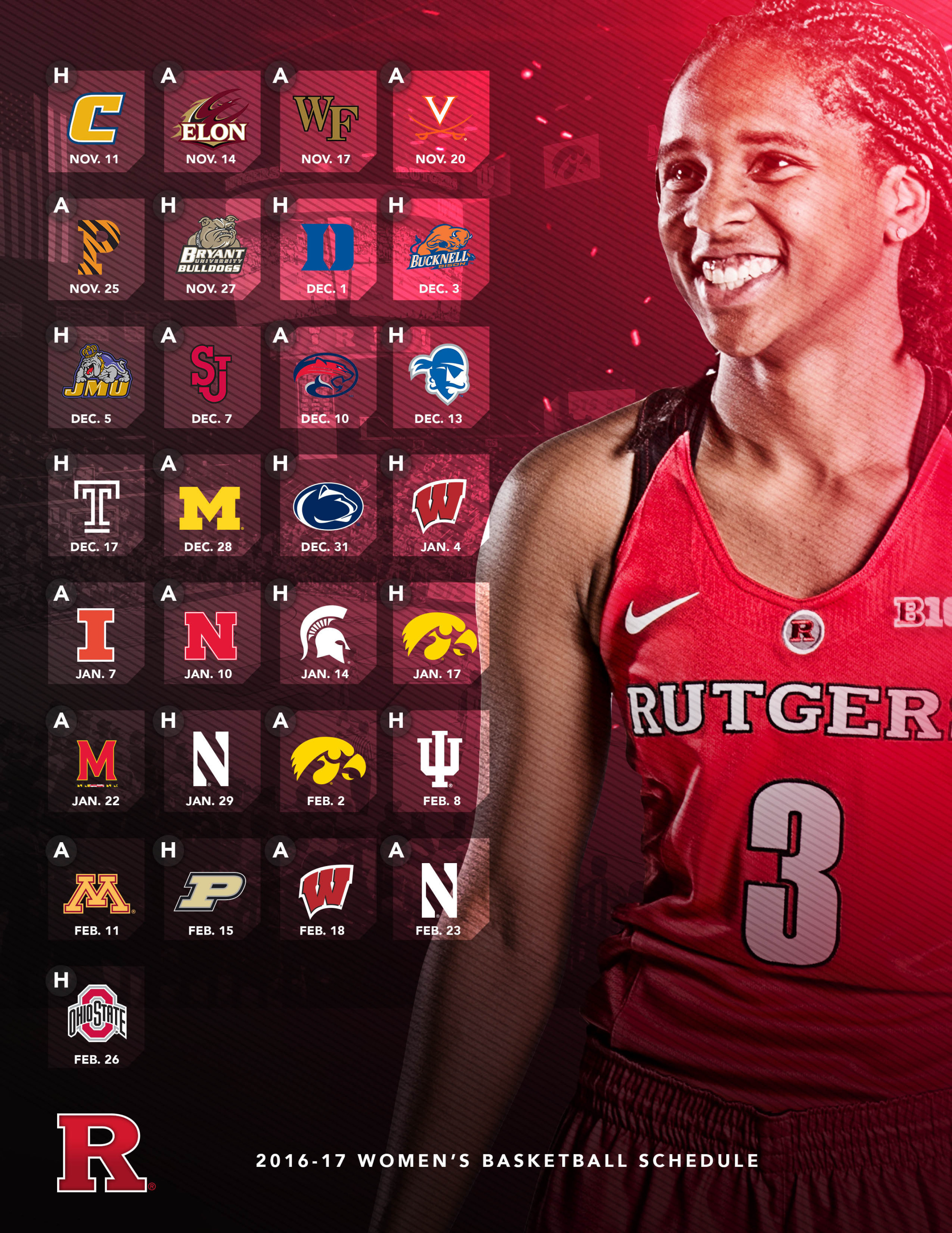 women's basketball unveils 2016-17 schedule - rutgers university